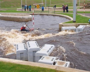 Tees Barrage slalom course